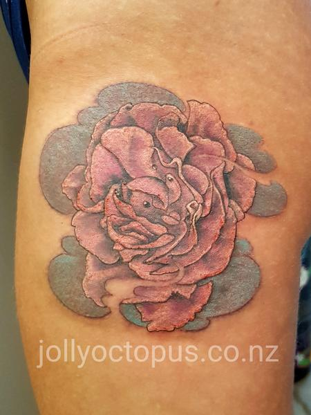 Tattoos - Peony Flower Color Tattoo - 126523