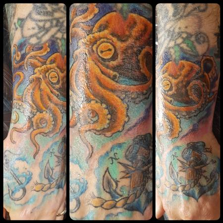 Tattoos - Jolly Octopus Color Tattoo - 130029