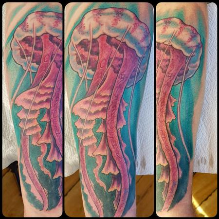 Tattoos - Jellyfish Color Tattoo - 130485