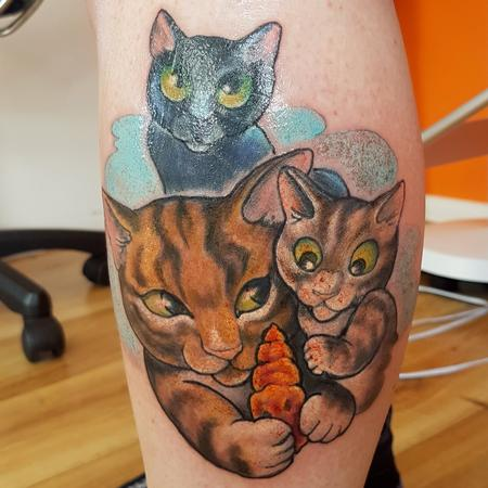 Steve Malley - Cartoon Cat Portrait Tattoo