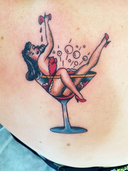 Tattoos - American Traditional Pinup Tattoo - 131688