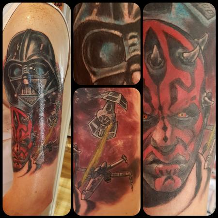 Tattoos - Star Wars Sith Lords Half Sleeve Tattoo - 132497