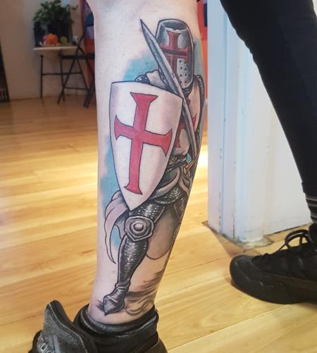 Tattoos - Templar Knight Color Tattoo - 133822