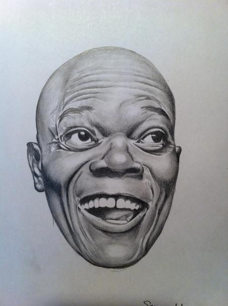 Tattoos - Samuel L Jackson Pencil Portrait - 125356