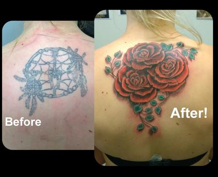 Tattoos - Feminine Rose Coverup Tattoo - 119156