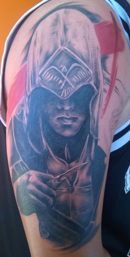 Tattoos - Assassin's Creed Trash Polka Tattoo - 114412