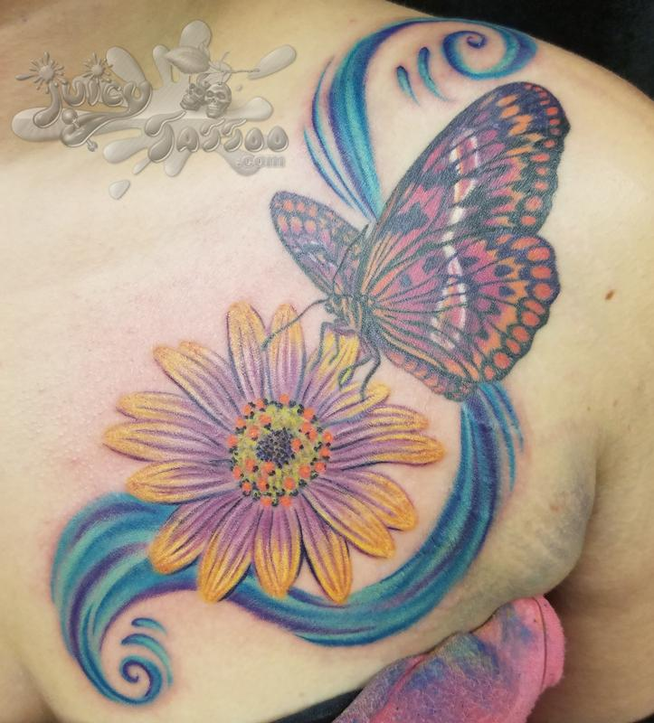 Darc Clements - Butterfly and Daisy