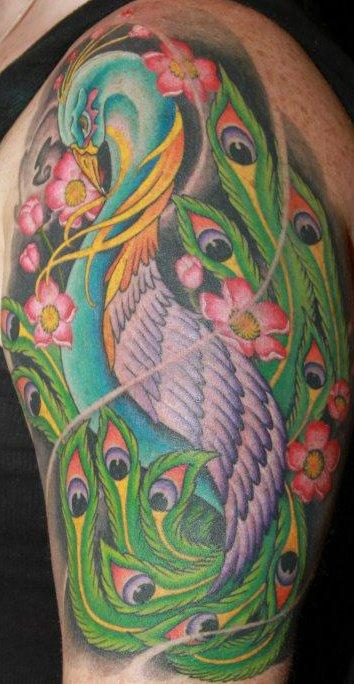 Tattoos - peacock tattoo - 67332