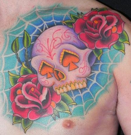 Color Skull Tattoo Tattoo Design