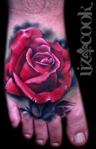 Tattoos - Rose Foot Tattoo - 62507