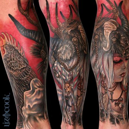Tattoos - Headdress Girl (Second Part-Fully Healed) - 84036
