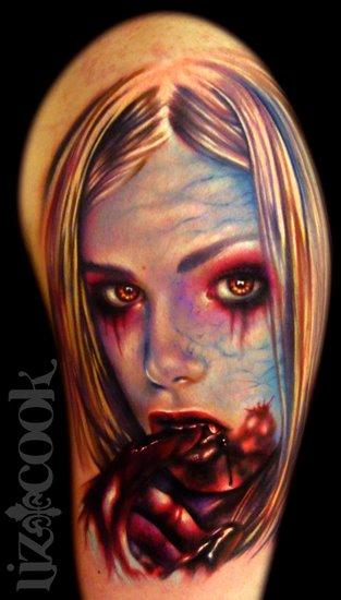 Tattoos - Vampire Girl Portrait - 61883