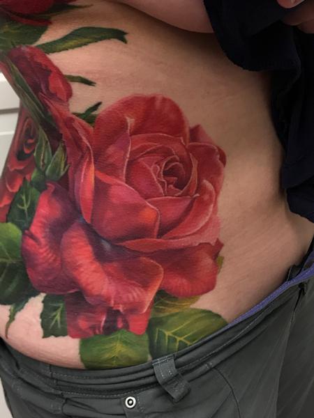 Bold Roses Tattoo Thumbnail