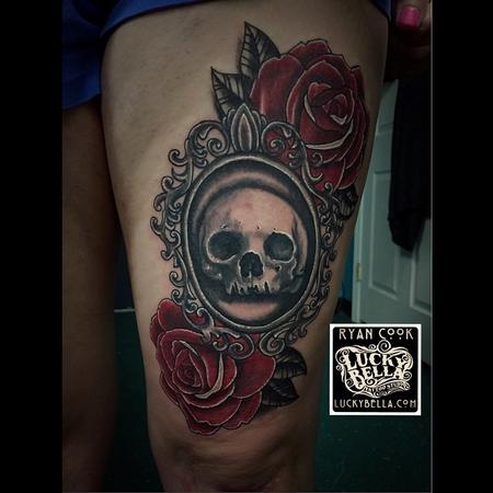 Tattoos - Ornate Skull and Roses - 103626
