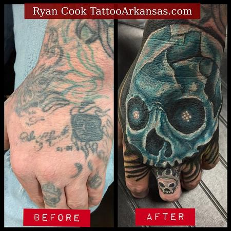 Tattoos - Skull Coverup - 103639