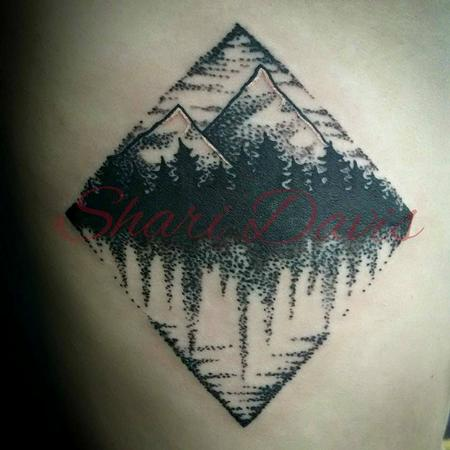 Tattoos - geometric landscape - 104995