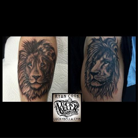 Tattoos - Photorealistic Lions - 109525