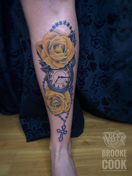 Brooke Cook - Yellow Roses and Pocket Watch