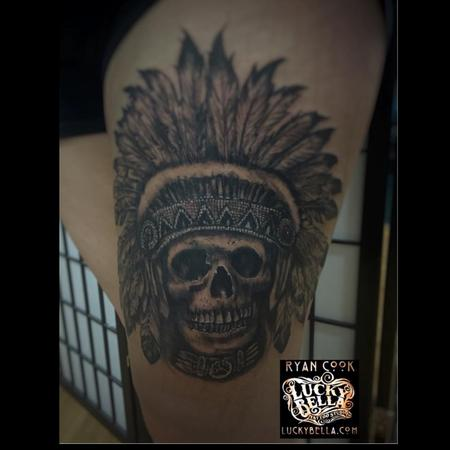 Tattoos - Indian Skull - 119022