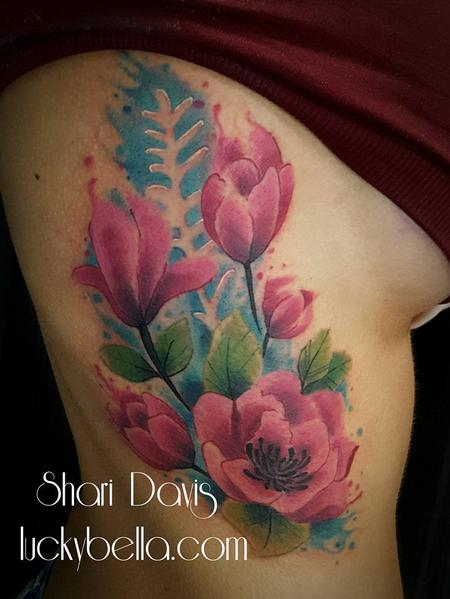 Tattoos - Watercolor Tulips and Flowers  - 137447