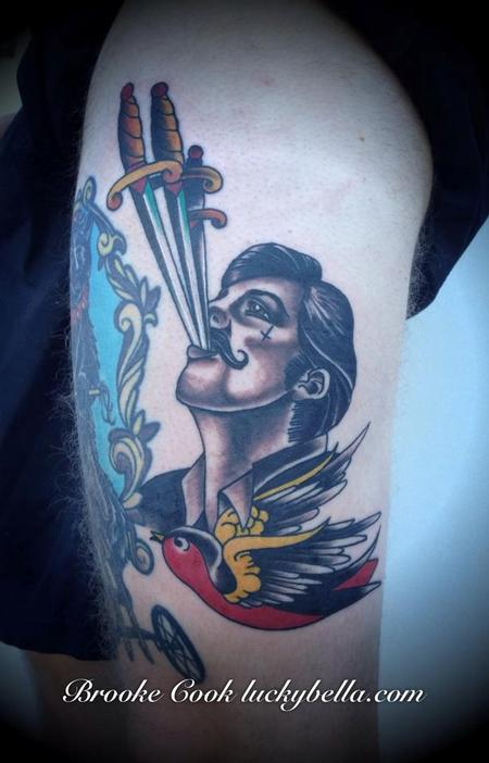 Tattoos - sword swallower  - 86519