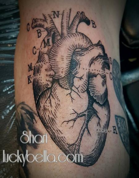 Tattoos - Anatomical Heart  - 127777