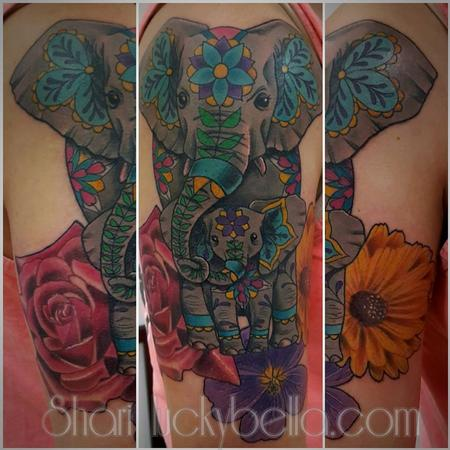 Tattoos - elephant family - 130507