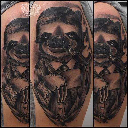 Tattoos - Fancy Sloth  - 132196