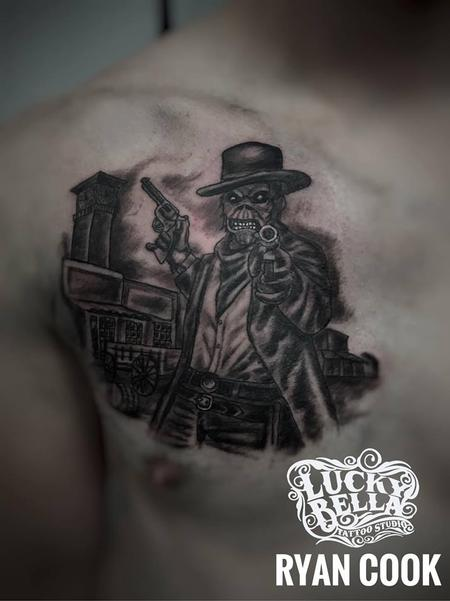 Tattoos - Western Eddy Tattoo by Ryan Cook at Lucky Bella Tattoos in North Little Rock  - 134619
