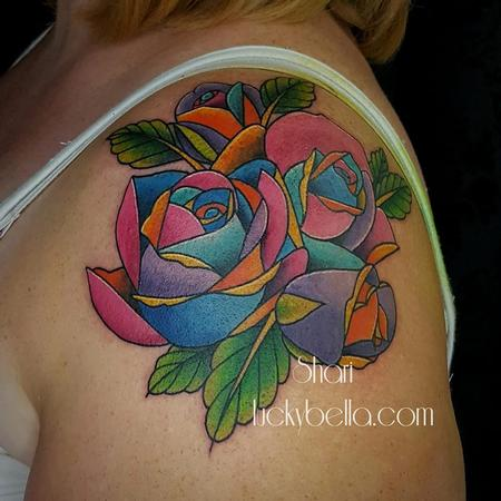 Tattoos - Geometric Rose - 134902