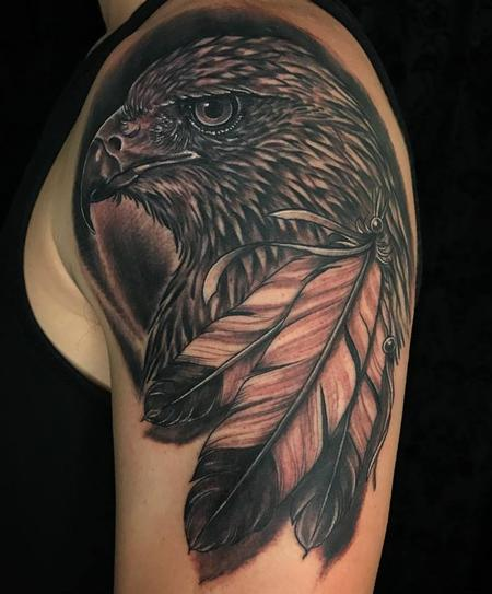 Howard Neal - Black and Grey Hawk