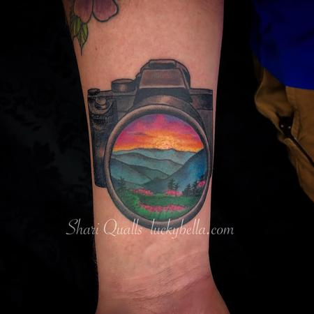 Shari Qualls - Sunset Scene within Camera Lens
