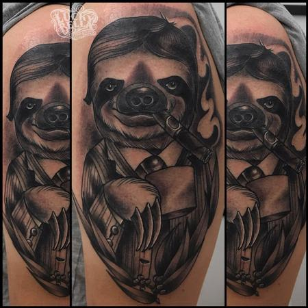 Tattoos - Fancy Sloth  - 137449