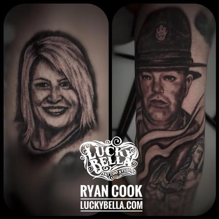 Tattoos - Family Portraits by Ryan Cook at Lucky Bella Tattoos in North Little Rock Arkansas - 133299