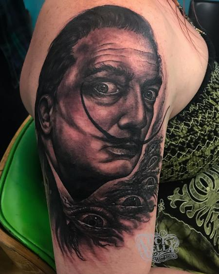 Tattoos - Salvador Dali Portrait  - 137591