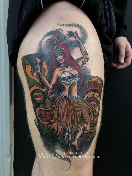 Tattoos - Zombie Tiki Girl  - 137899