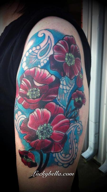 Tattoos - poppies and paisleys  - 64481