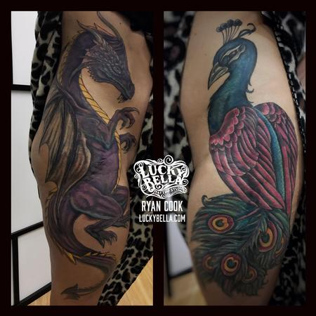 Ryan Cook - Peacock and Dragon Thigh Pieces