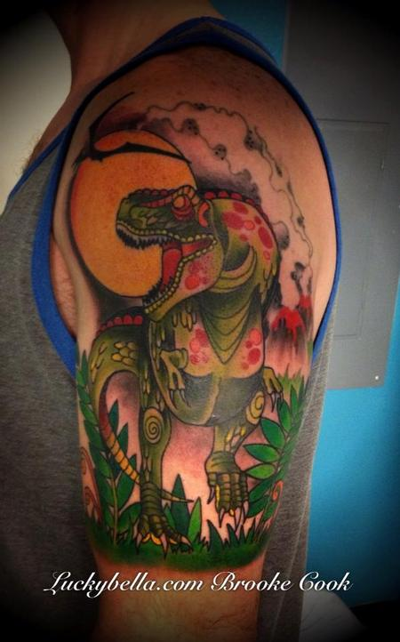 Tattoos - T-Rex half sleeve - 76277