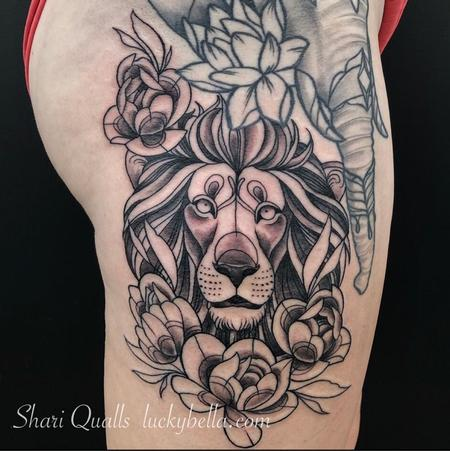 Tattoos - Illustrative Lion  - 138746