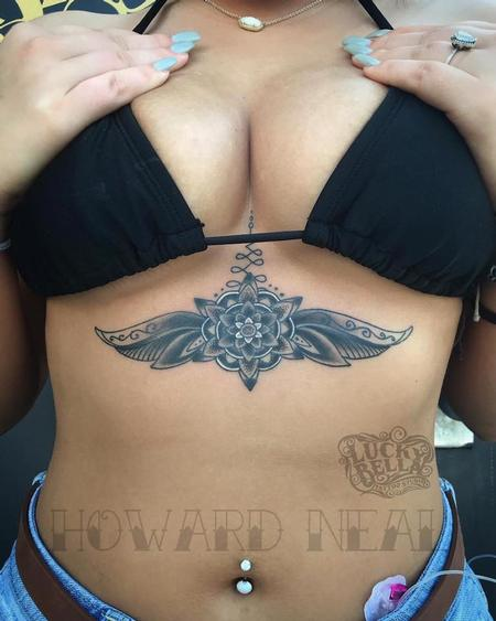 Tattoos - Geometric Sternum Piece  - 140422