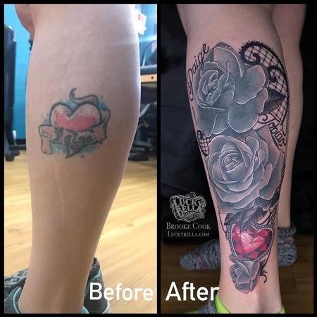 Brooke Cook - Family Tattoo Coverup by Brooke Cook at Lucky Bella Tattoos in North Little Rock Arkansas