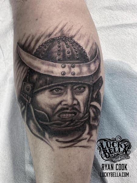 Ryan Cook - Throne of Blood Portrait by Ryan Cook at Lucky Bella Tattoos