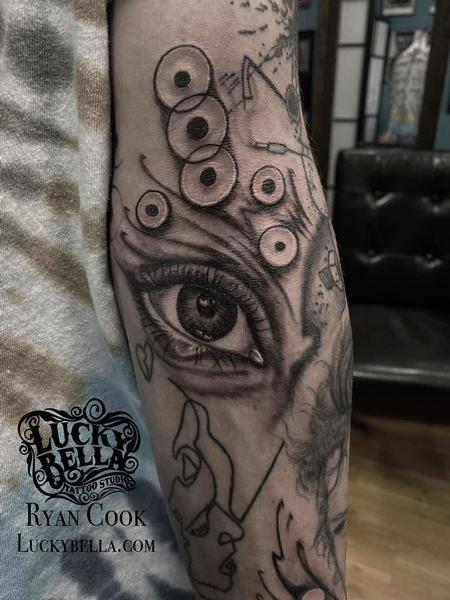 Ryan Cook - Realistic Eye Tattoo by Ryan Cook at Lucky Bella Tattoos in North Little Rock