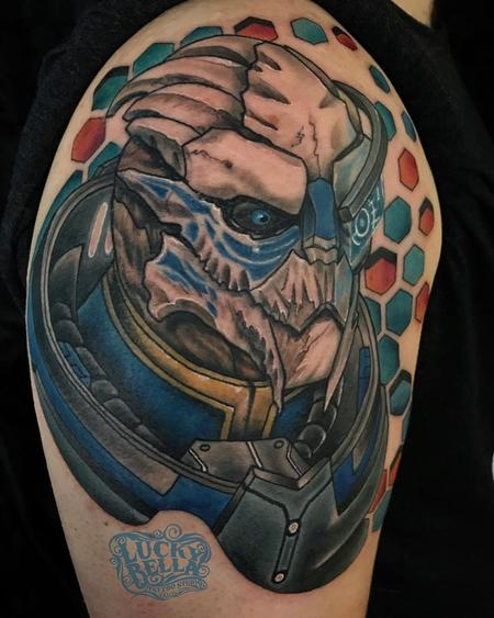 Howard Neal - Mass Effect Tattoo by Howard Neal at Lucky Bella Tattoos in North Little Rock