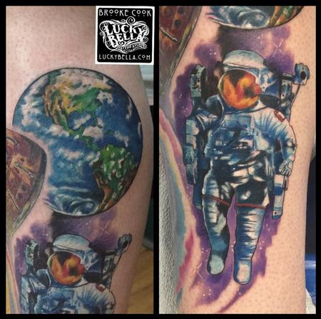 Tattoos - Space Leg Work - 113599