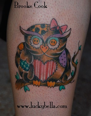 Tattoos - patch work owl - 50778