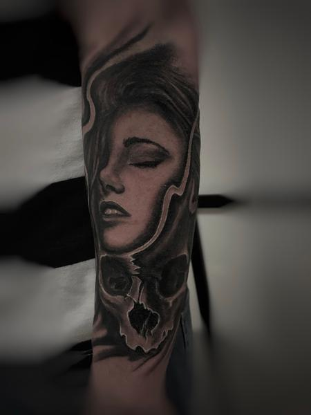 Tattoos - Girl and Skull  - 136201