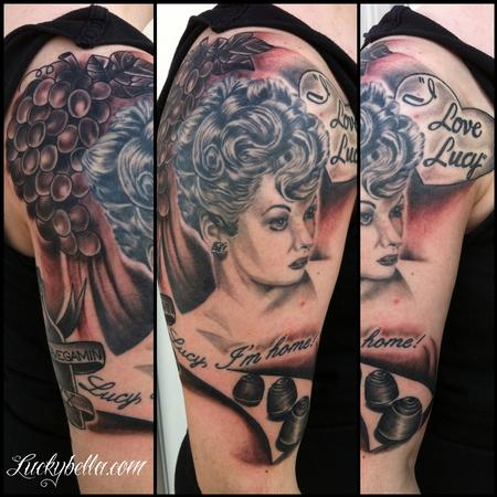 Brooke Cook - I love Lucy half sleeve