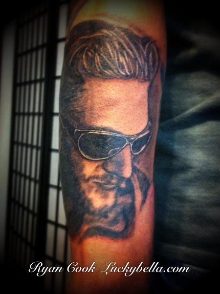 Tattoos - Layne Staley Portrait by Ryan Cook text 501-733-5984 for an appointment - 59122